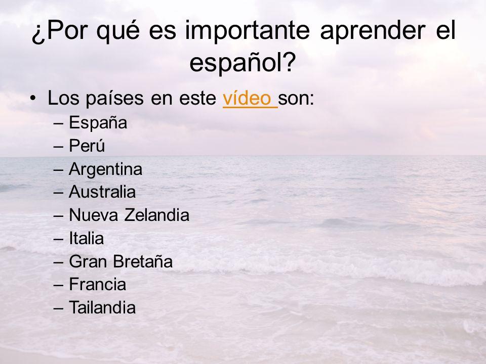 ¿Por qué es importante aprender el español