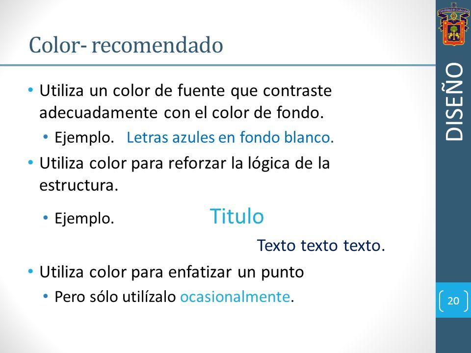 DISEÑO Color- recomendado