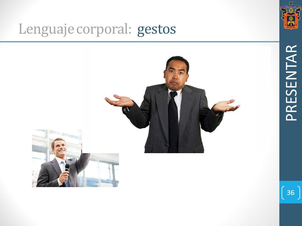 Lenguaje corporal: gestos
