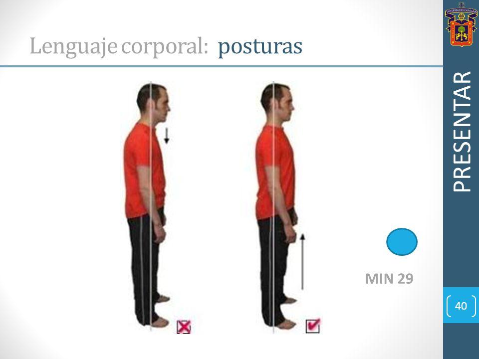 Lenguaje corporal: posturas