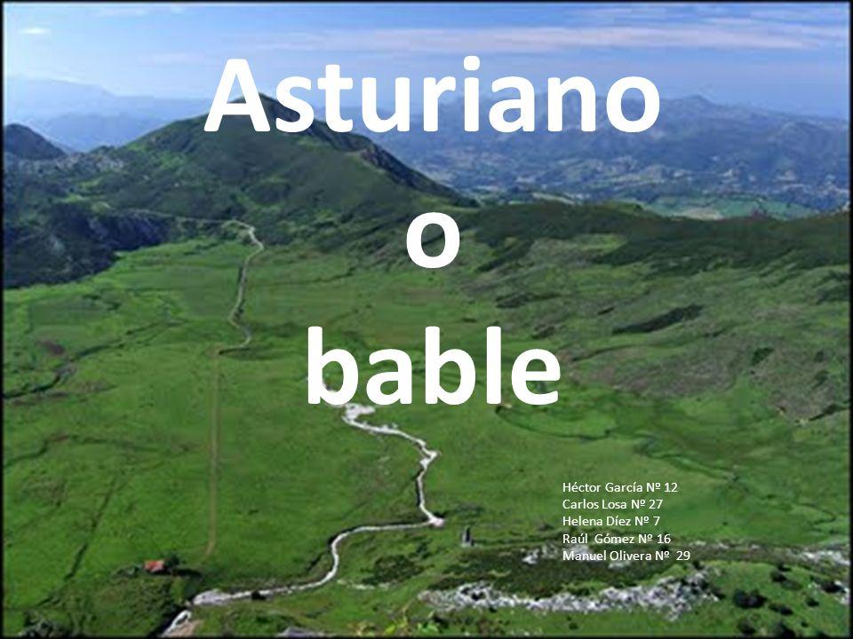 Asturiano o bable Héctor García Nº 12 Carlos Losa Nº 27