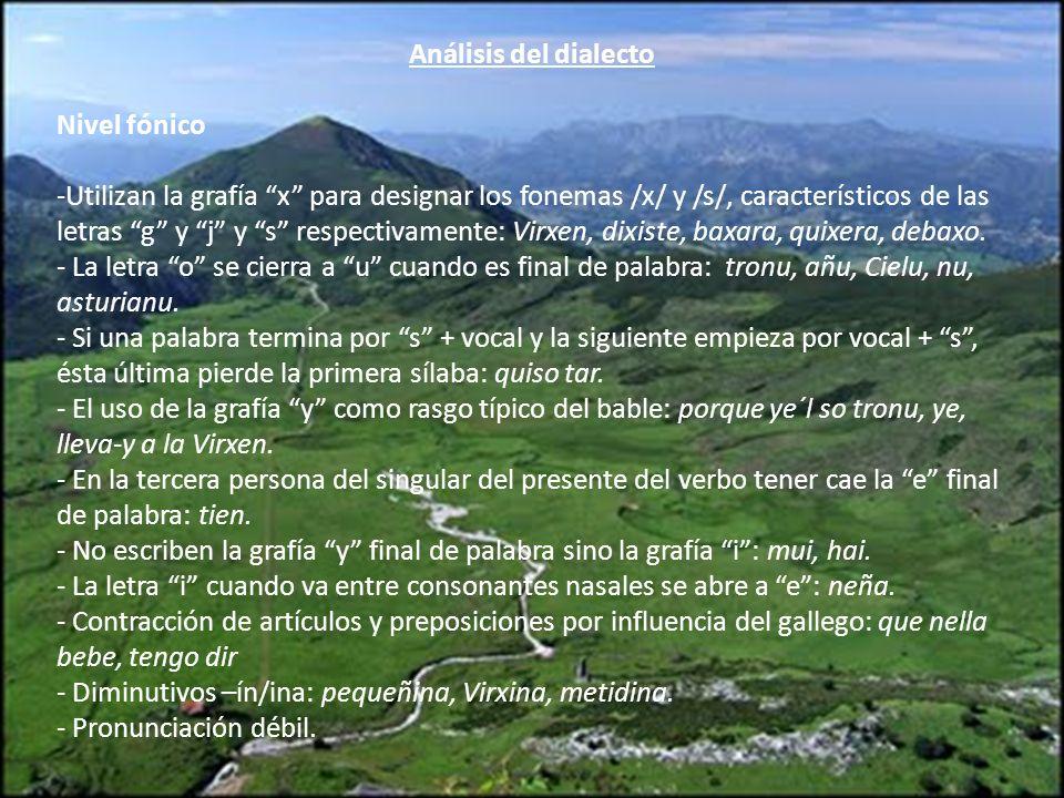 Análisis del dialecto Nivel fónico.