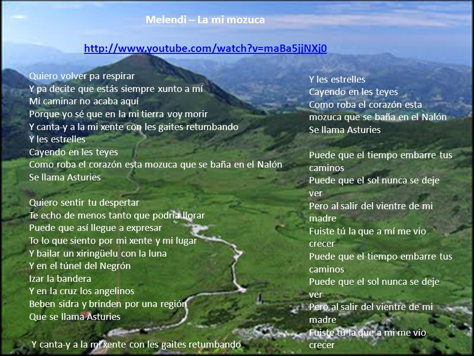 Melendi – La mi mozuca http://www.youtube.com/watch v=maBa5jjNXj0