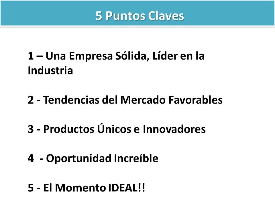 5 Puntos Claves 1 – Una Empresa Sólida, Líder en la Industria