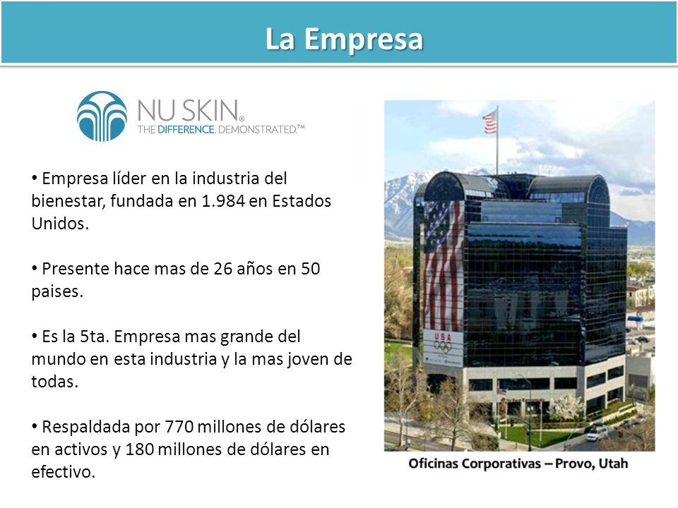 La Empresa Empresa líder en la industria del bienestar, fundada en 1.984 en Estados Unidos. Presente hace mas de 26 años en 50 paises.