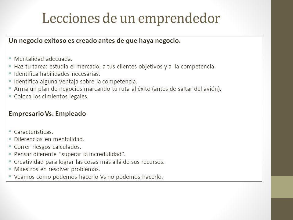 Lecciones de un emprendedor