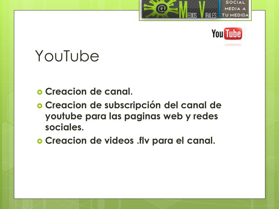 YouTube Creacion de canal.