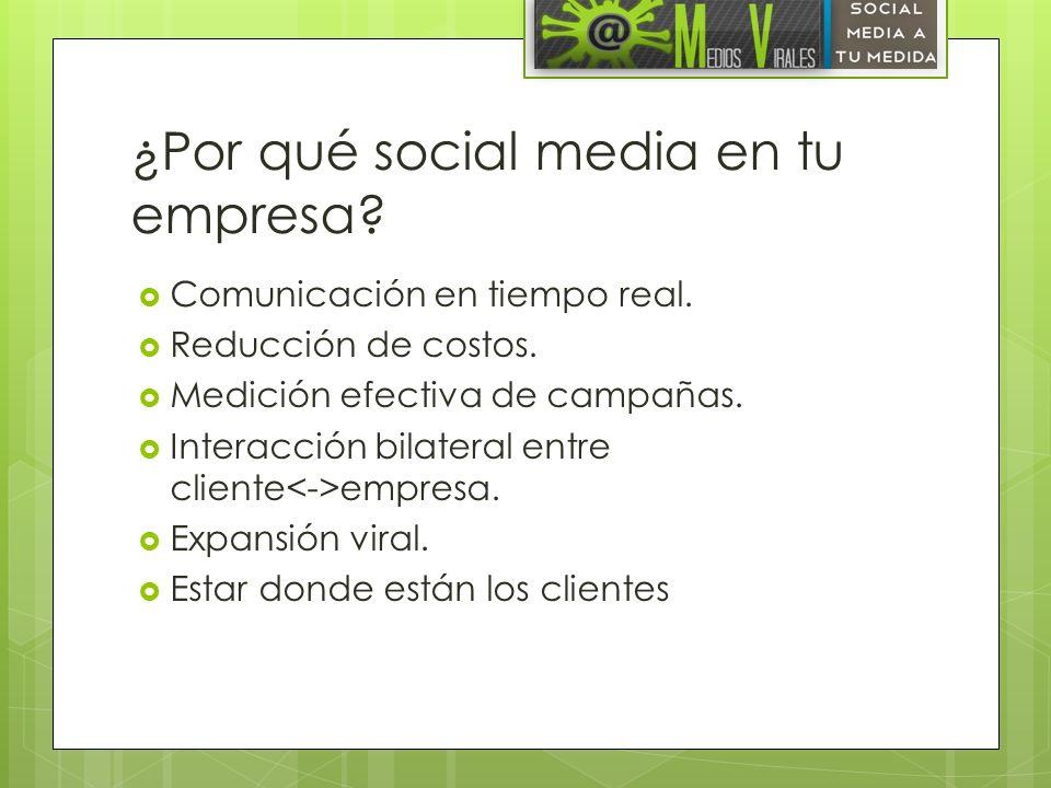 ¿Por qué social media en tu empresa