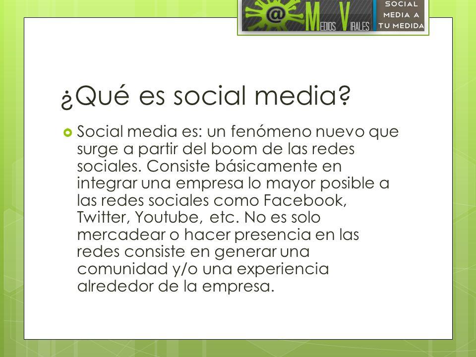 ¿Qué es social media
