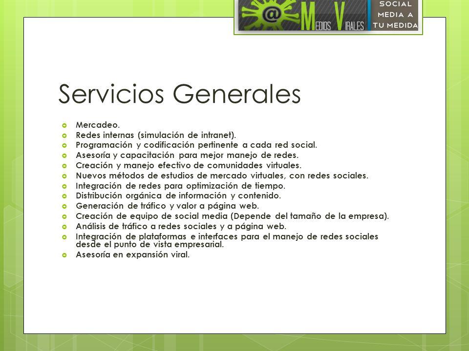 Servicios Generales Mercadeo. Redes internas (simulación de intranet).