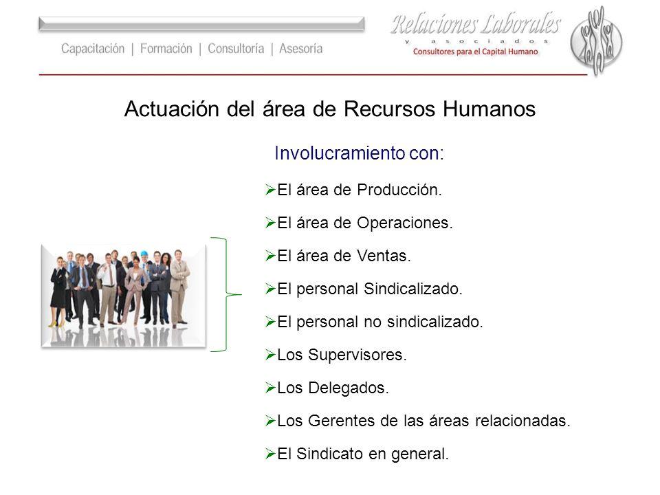 Actuación del área de Recursos Humanos