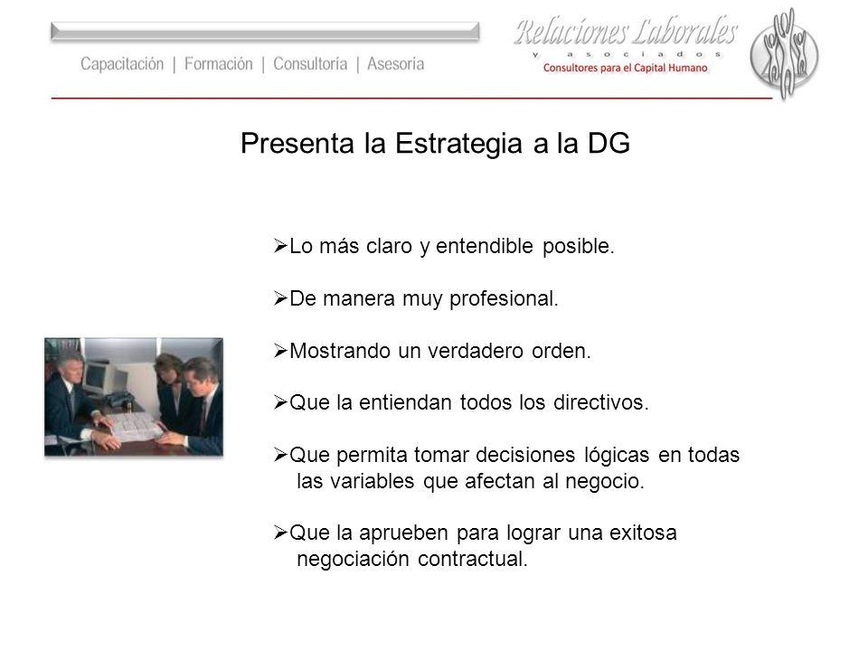 Presenta la Estrategia a la DG