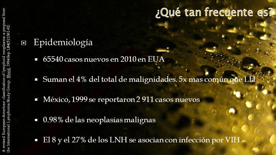 ¿Qué tan frecuente es Epidemiología 65540 casos nuevos en 2010 en EUA