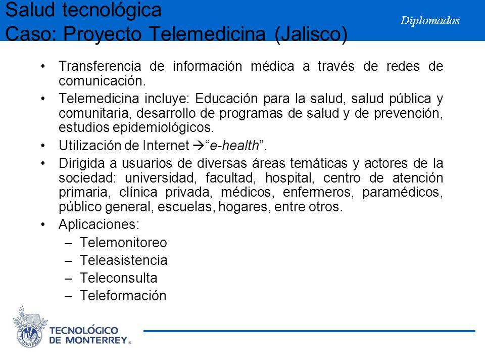 Salud tecnológica Caso: Proyecto Telemedicina (Jalisco)