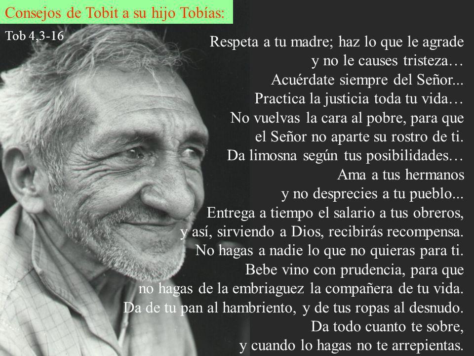 Consejos de Tobit a su hijo Tobías: