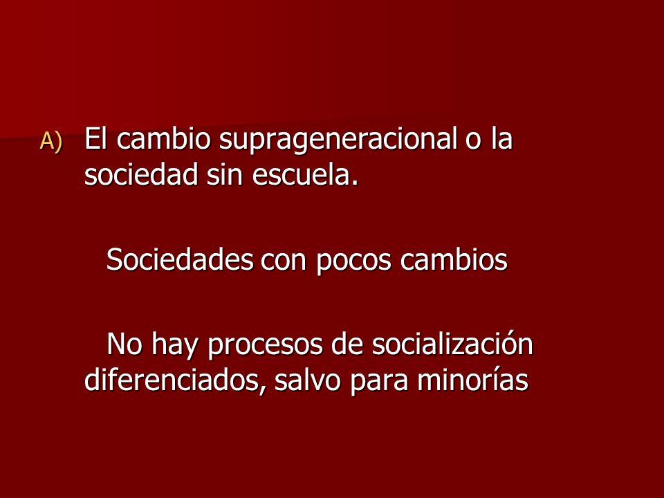 El cambio suprageneracional o la sociedad sin escuela.