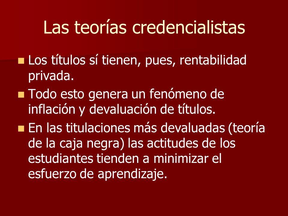 Las teorías credencialistas