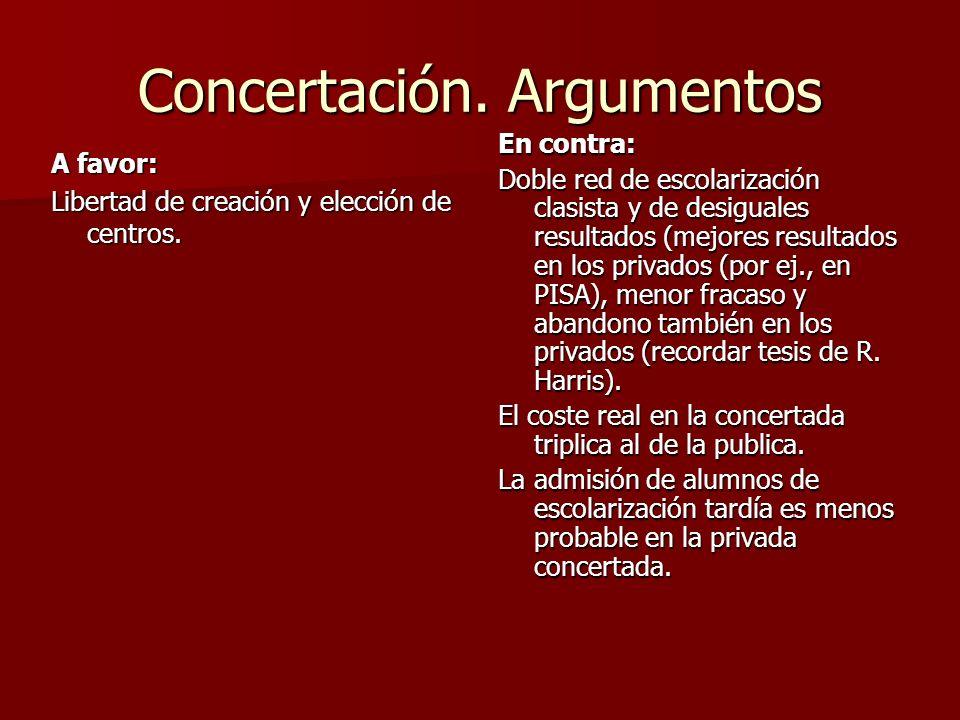 Concertación. Argumentos