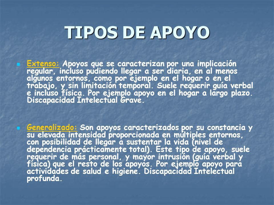 TIPOS DE APOYO