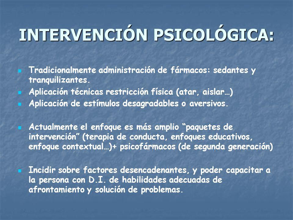 INTERVENCIÓN PSICOLÓGICA:
