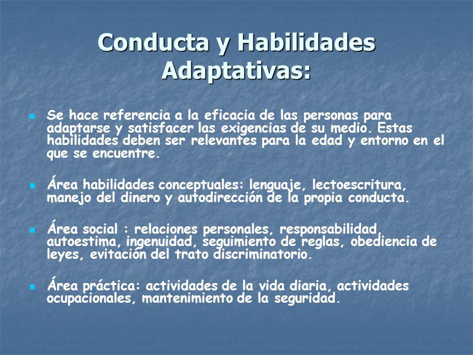 Conducta y Habilidades Adaptativas: