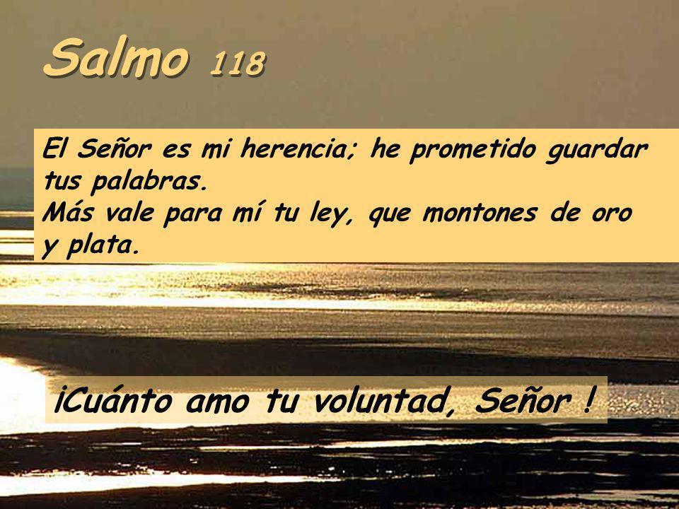 Salmo 118 ¡Cuánto amo tu voluntad, Señor !