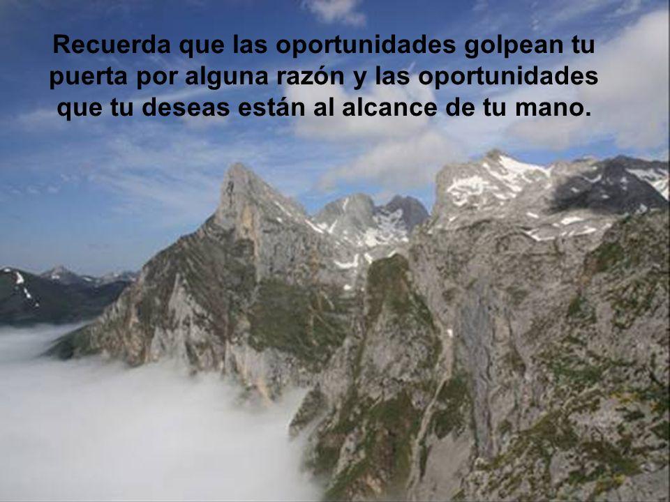 Recuerda que las oportunidades golpean tu puerta por alguna razón y las oportunidades que tu deseas están al alcance de tu mano.