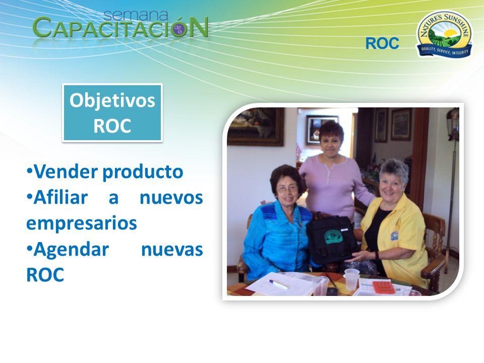 Afiliar a nuevos empresarios Agendar nuevas ROC