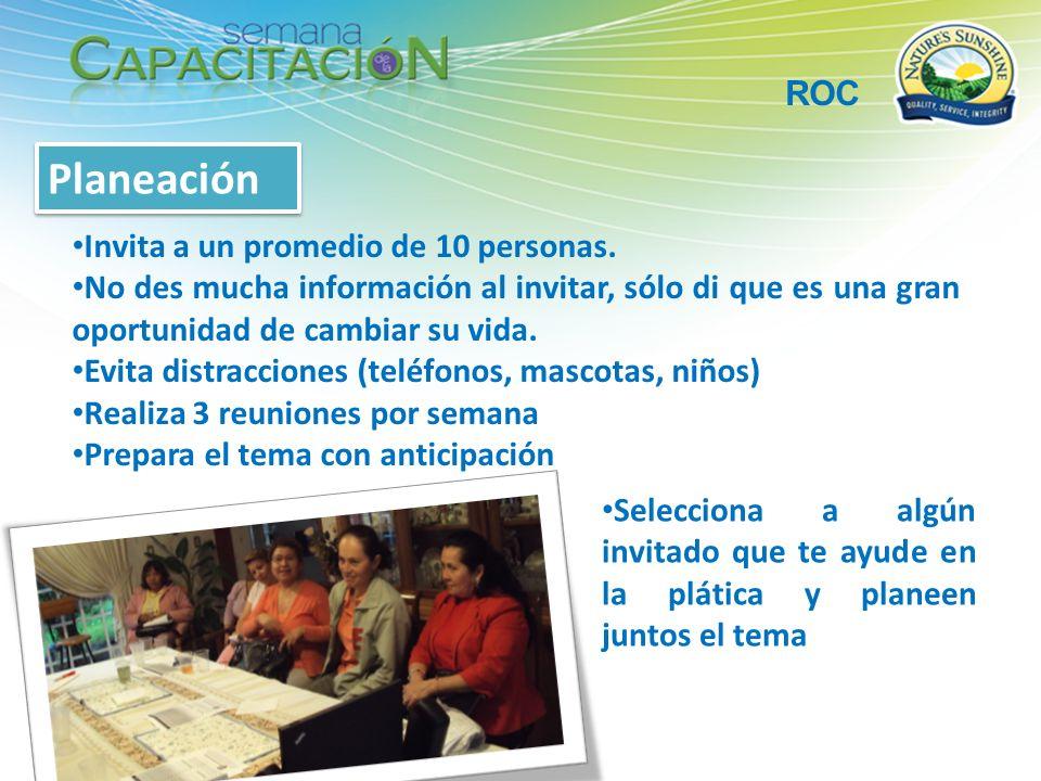 Planeación ROC Invita a un promedio de 10 personas.