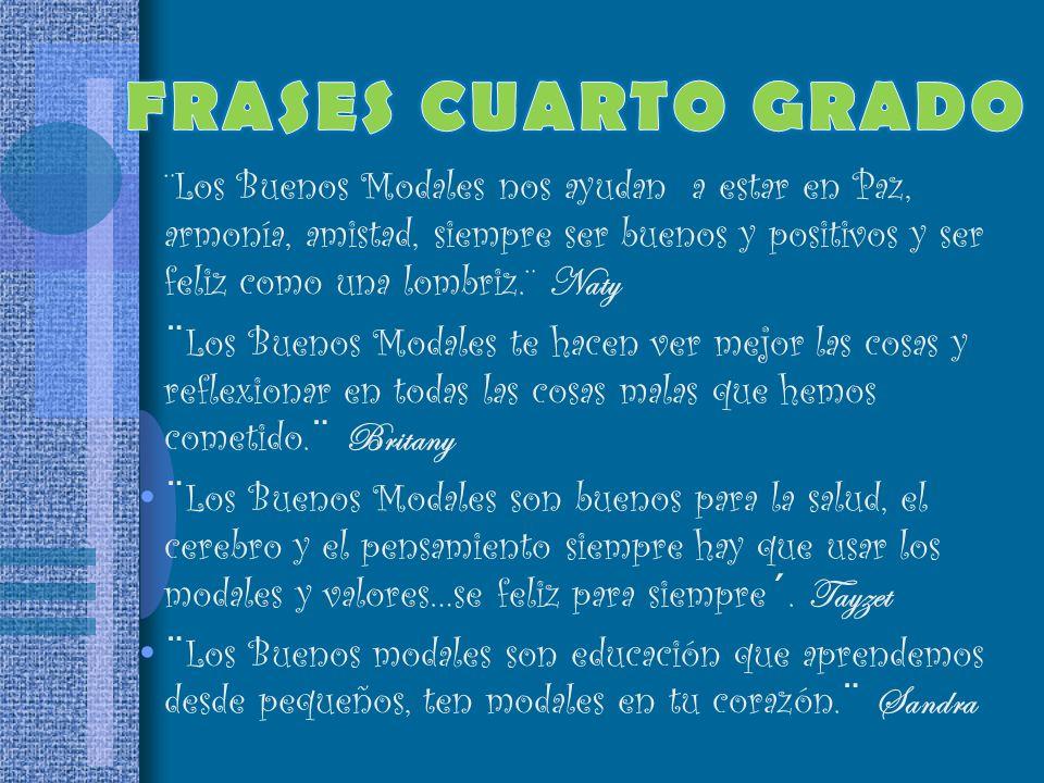 FRASES CUARTO GRADO