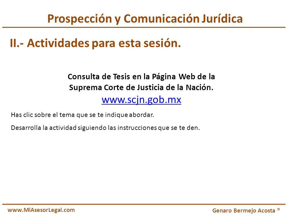 Prospección y Comunicación Jurídica