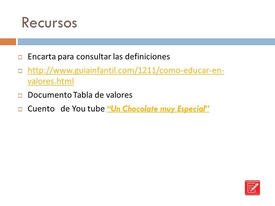 Recursos Encarta para consultar las definiciones