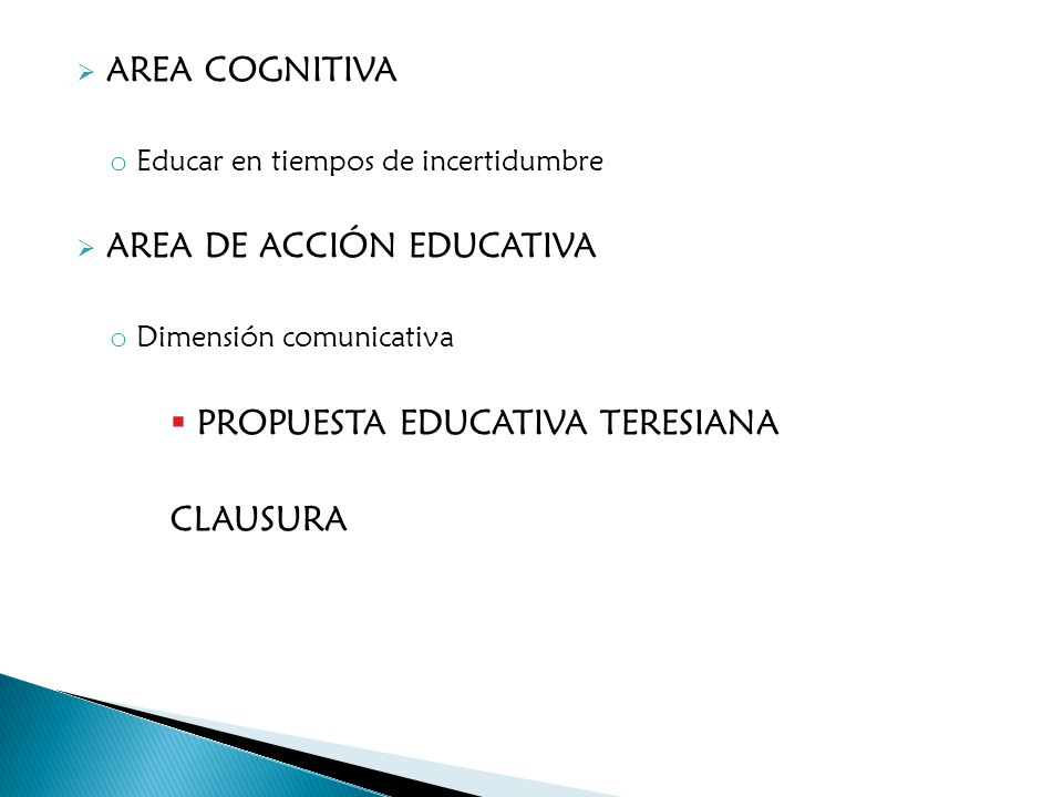 AREA DE ACCIÓN EDUCATIVA