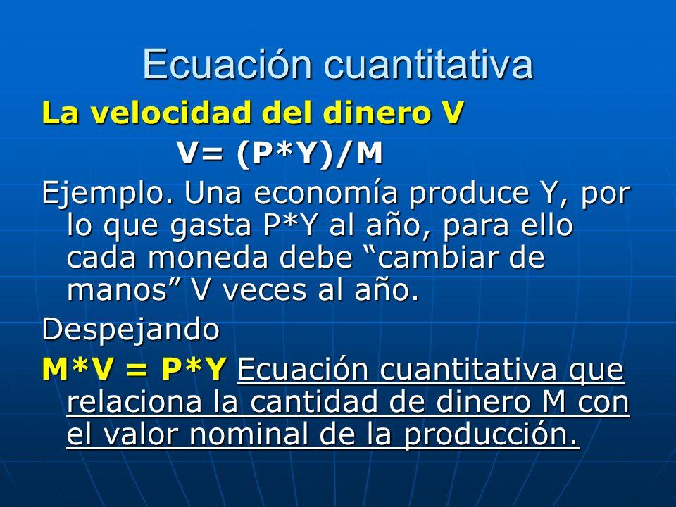 Ecuación cuantitativa