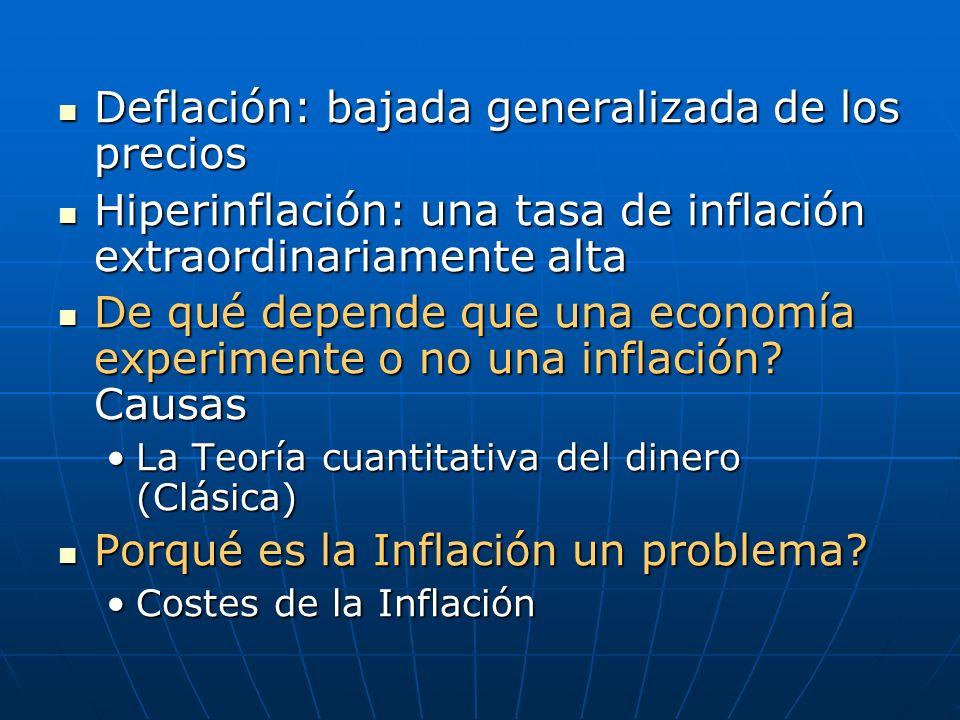 Deflación: bajada generalizada de los precios