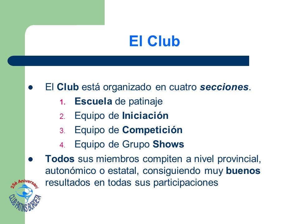 El Club El Club está organizado en cuatro secciones.
