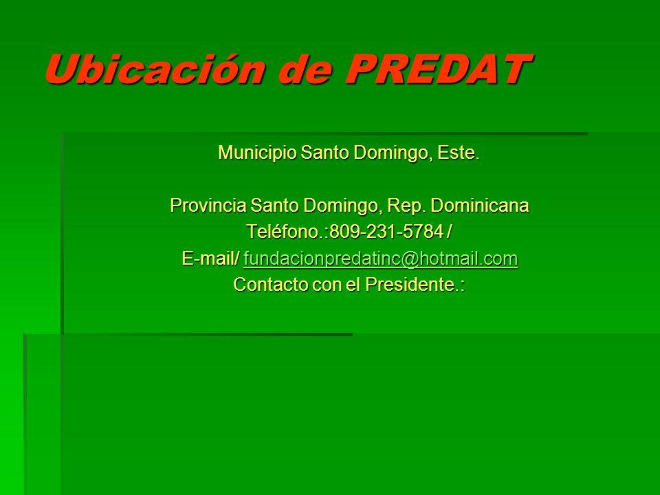 Ubicación de PREDAT Municipio Santo Domingo, Este.