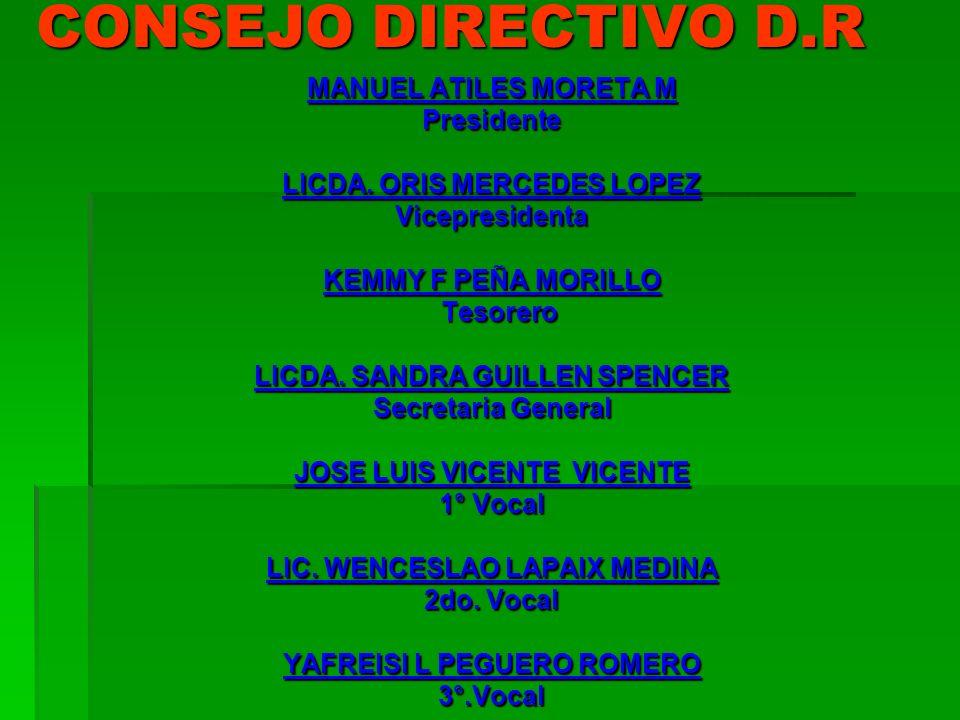 CONSEJO DIRECTIVO D.R MANUEL ATILES MORETA M Presidente