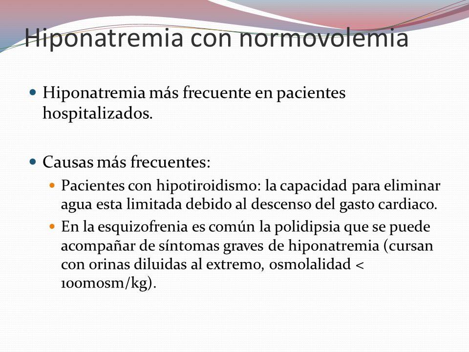 Hiponatremia con normovolemia
