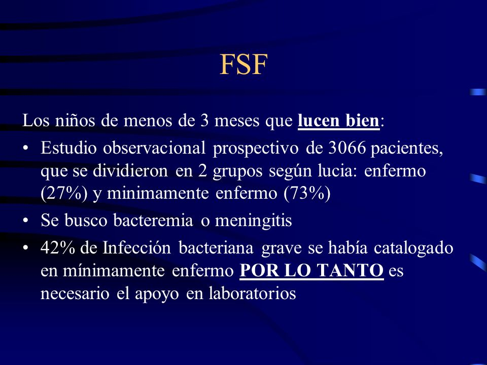 FSF Los niños de menos de 3 meses que lucen bien: