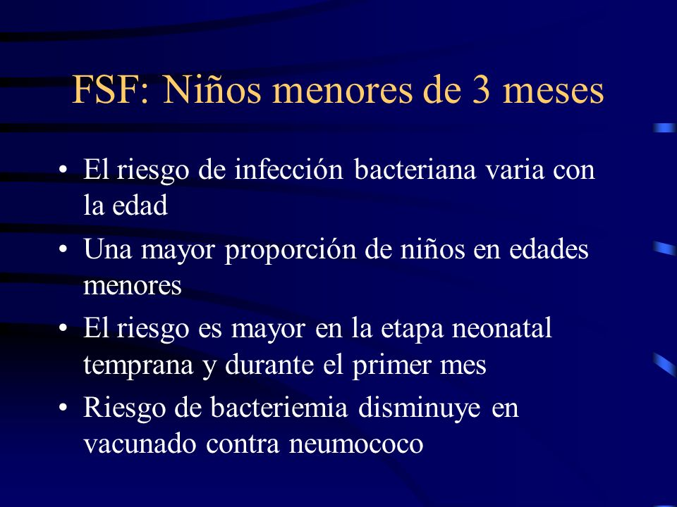 FSF: Niños menores de 3 meses