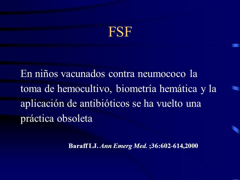 FSF En niños vacunados contra neumococo la