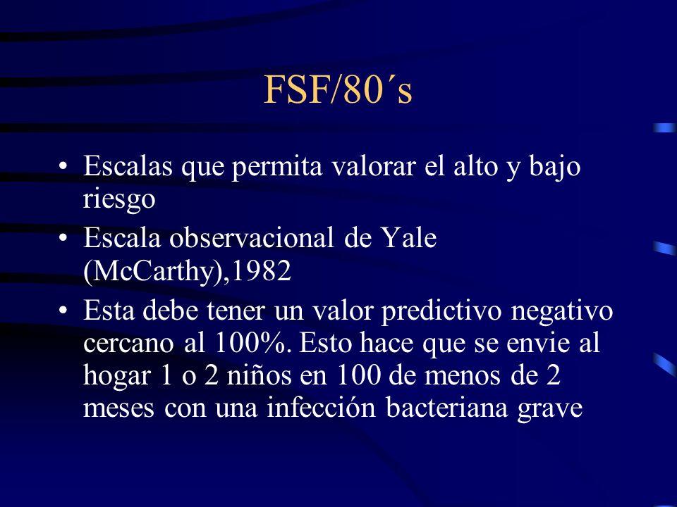 FSF/80´s Escalas que permita valorar el alto y bajo riesgo
