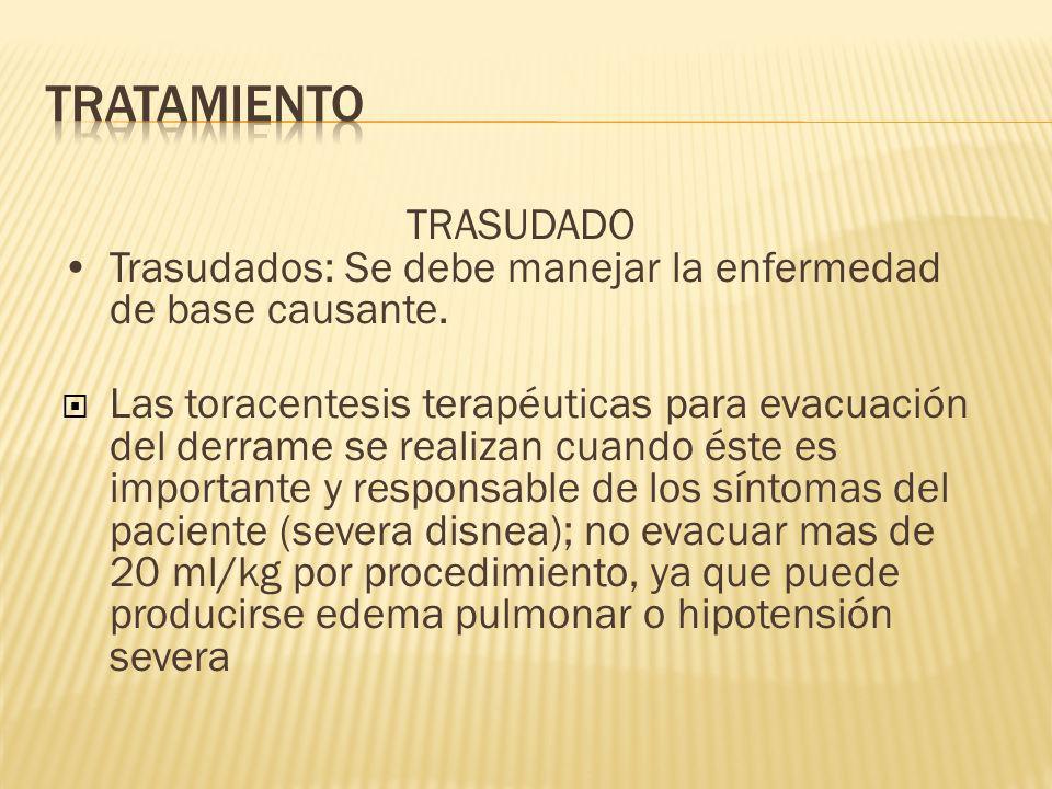 TRATAMIENTO TRASUDADO