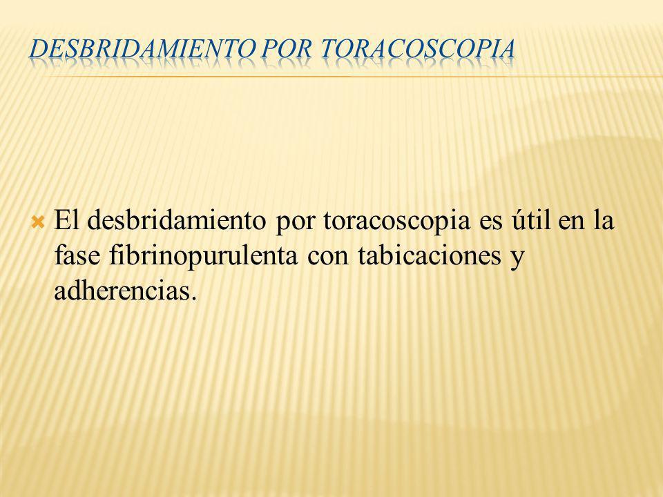 Desbridamiento por toracoscopia