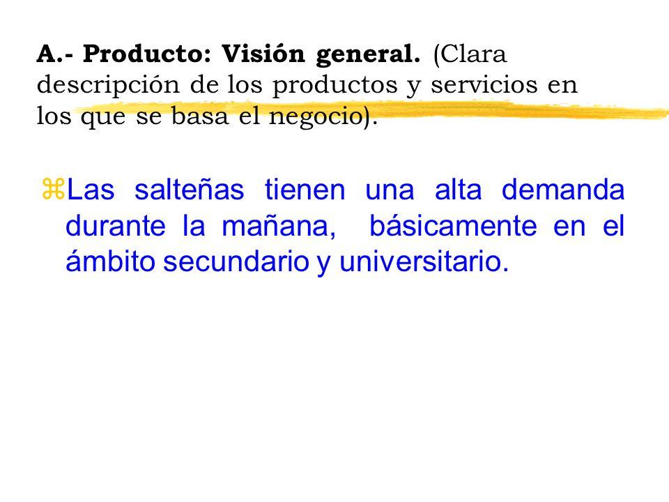 A. - Producto: Visión general