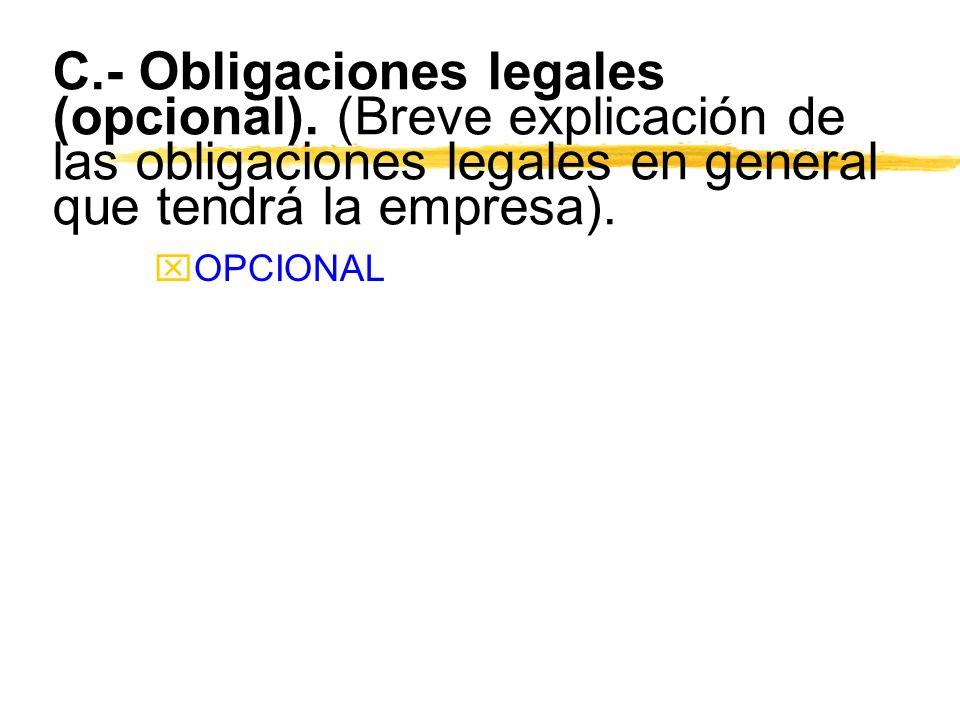 C. - Obligaciones legales (opcional)