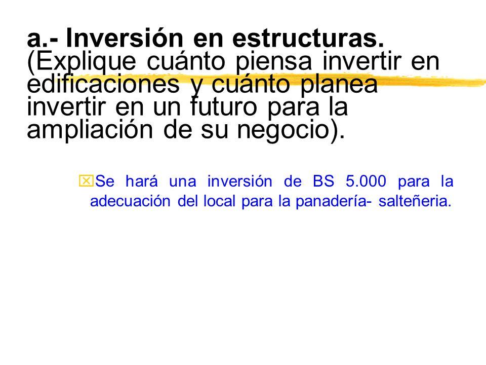 a. - Inversión en estructuras