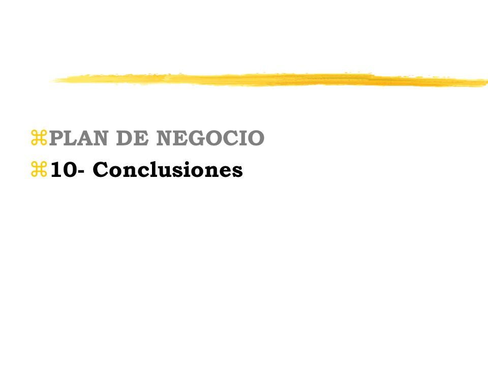 PLAN DE NEGOCIO 10- Conclusiones