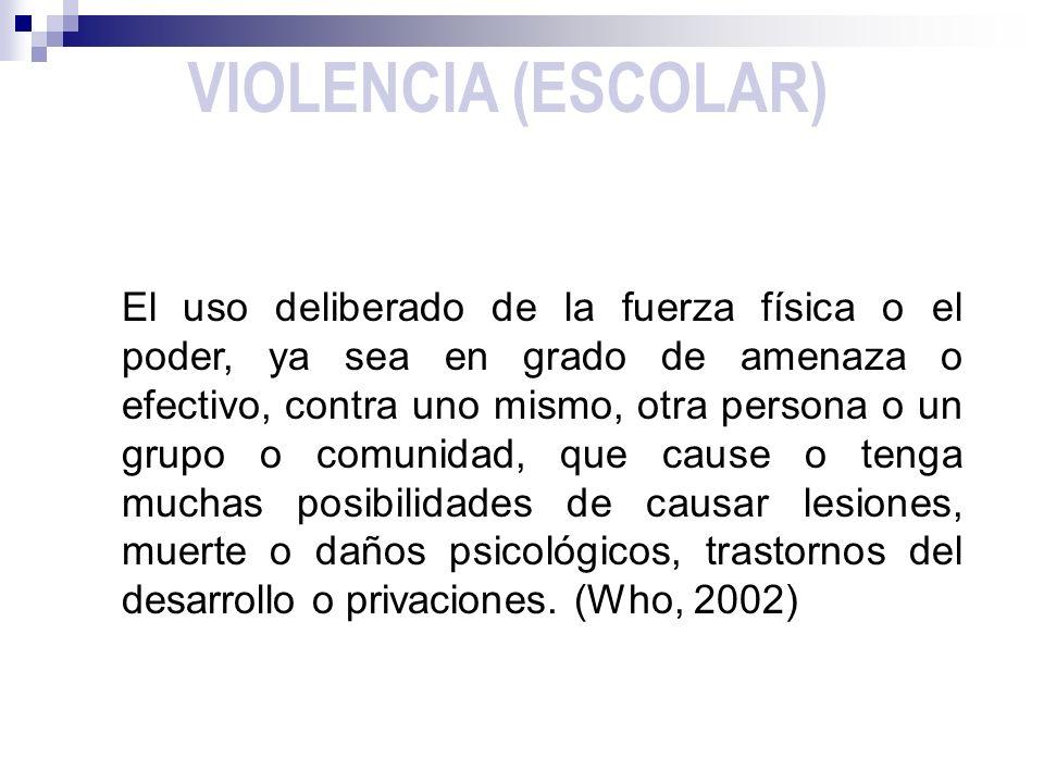 VIOLENCIA (ESCOLAR)